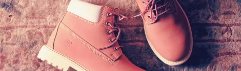 yellow but pink boots