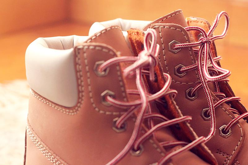 pink boots - lumberjack